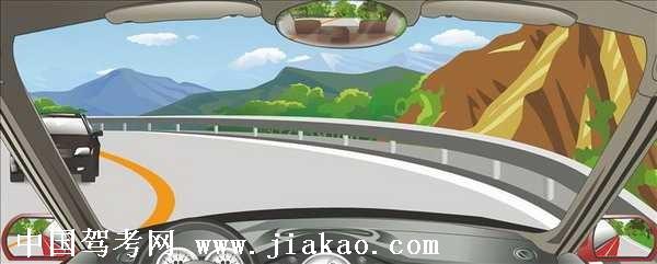 汽车理论复习题_驾驶机动车在这种条件的弯道处怎样转弯最安全?驾驶员理论 ...