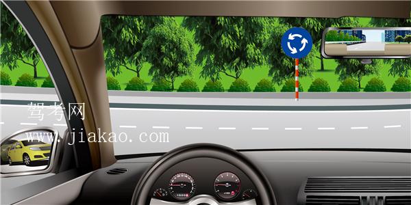 汽车理论复习题_如图所示,驾驶机动车驶入环岛前不用开转向灯。驾驶员理论 ...