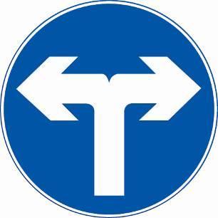 31、 这个标志是何含义?  <IMG>A、禁止向右转弯  B、禁止向左转弯